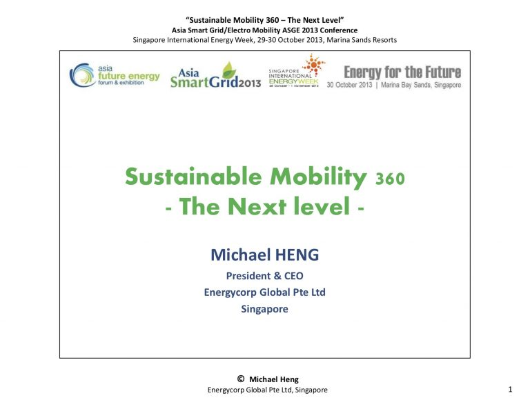 SustainableMobility 360 - The Next Level